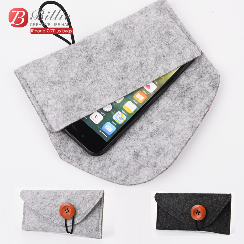 2017 Original para apple iphone 7 Plus bolsa Funda de fieltro de lana - Accesorios y repuestos para celulares - foto 1
