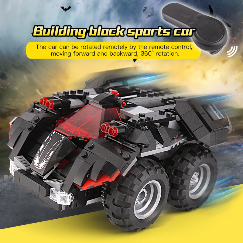 RC Remote Control Batmobile Compatible LeSet 76112 Technic DC Comic Super Heroes Building Blocks Bricks Educational