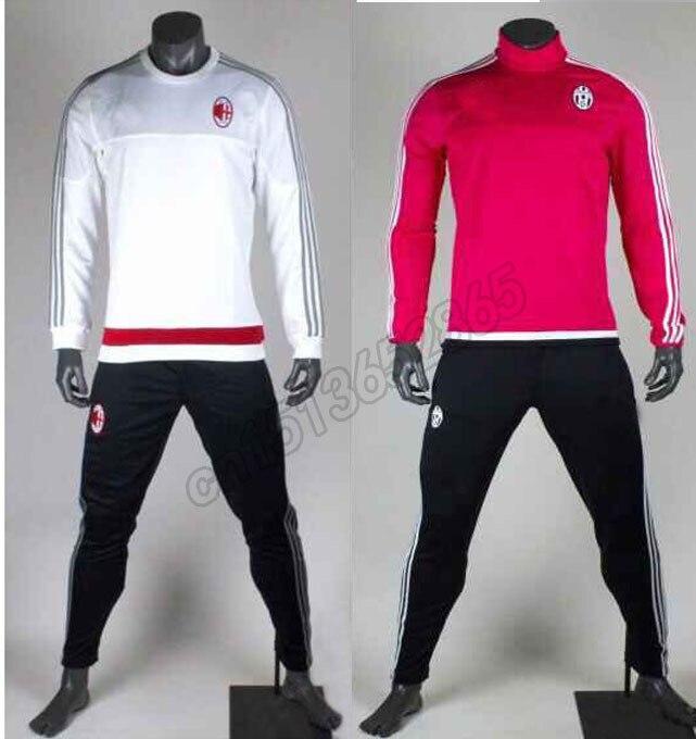 d1eb43e47fba7 Chandal AC Milan Training Suit 2016 Best Top Thai Quality Maillot de Foot  Survetement Football AC Milan Men Soccer Tracksuit