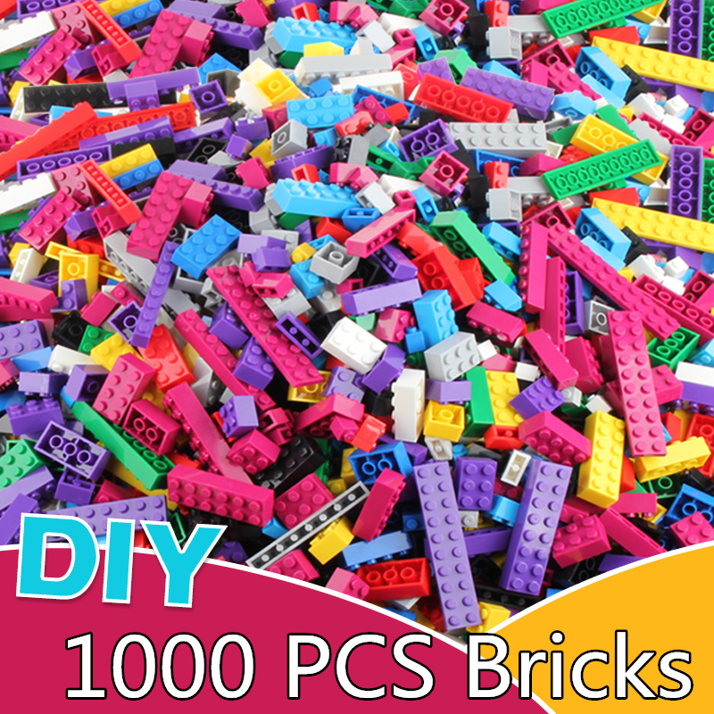 Hot Color 1000PCS Building Blocks City DIY Creative Bricks Educational Building Block Toy For Child Compatible With Major Bricks 1000 pcs diy creative brick toys for child educational building block sets bulk bricks compatible with major brand blocks