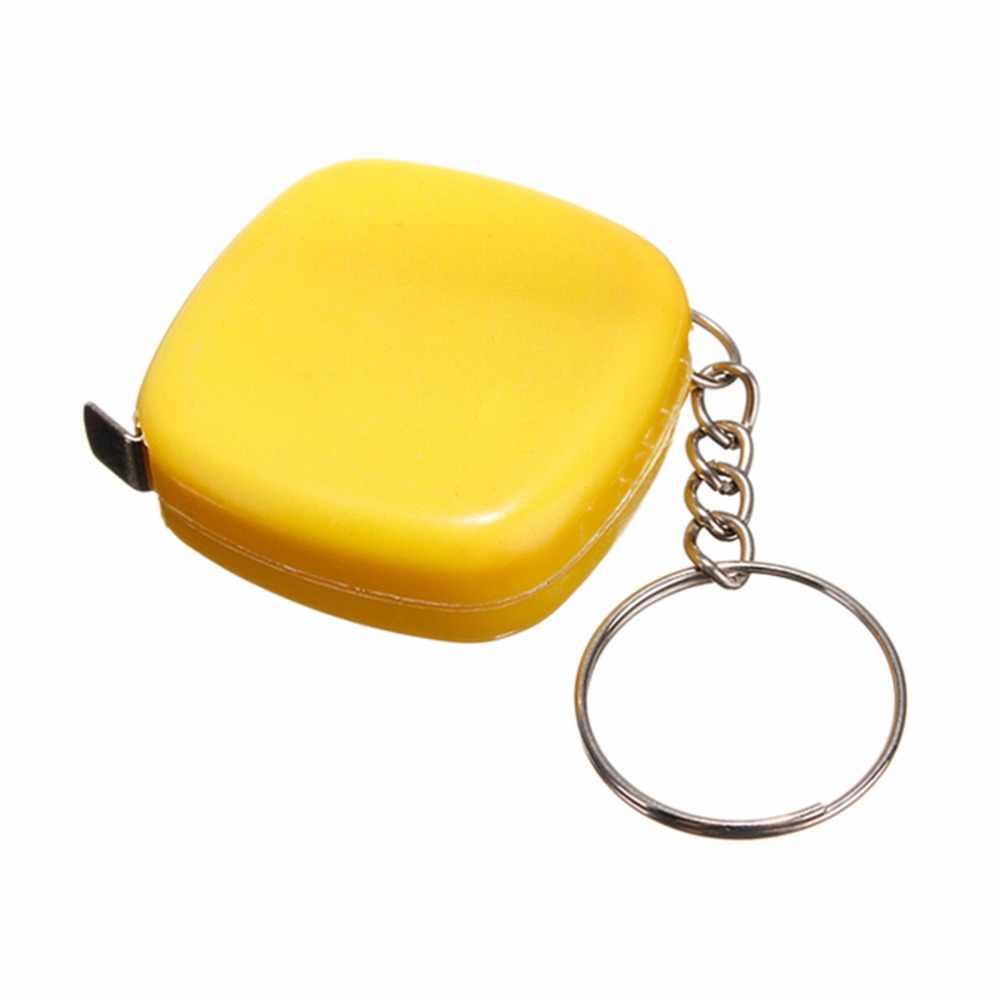 1PCS מיני מדידת קלטת Keychain פופולרי חדש חמוד 1 מטר צבע אקראי Keyring כלי נייד Keychain סיטונאי