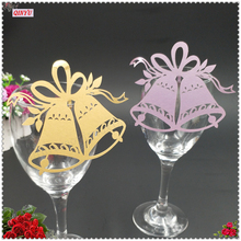 Wine Glass Paper Cards 50 Pcs Lot Escort Cup Name Place Card Birthday Party Supplies