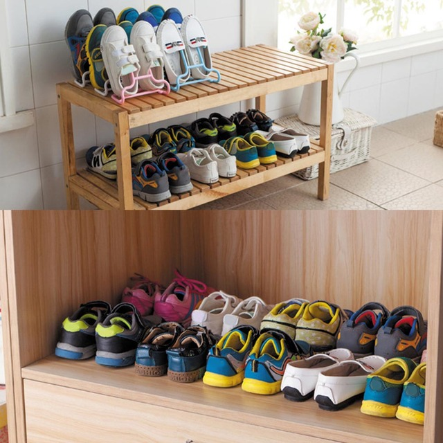 2PCs Fashion Shoes Rack Shoes Storage Creative Cabinet Shoe Rack Shoe  Living Room Bedroom Shoebox Home
