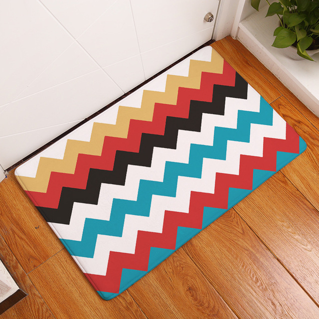 Rainbow Stripes Outside Shoes Scraper Floor Door Mat For Porch Garage Decor  Non Slip Entrance Rug