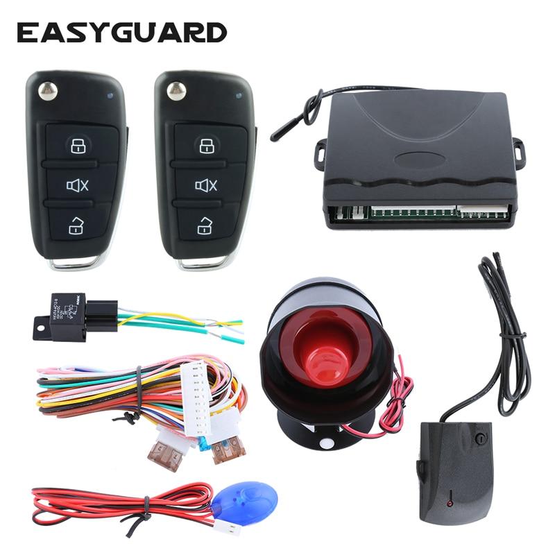 EASYGUARD Автомобильная сигнализация, универсальная центральная дверь, блокировка, без ключа, пульт дистанционного управления багажником, защита от кражи, dc12V