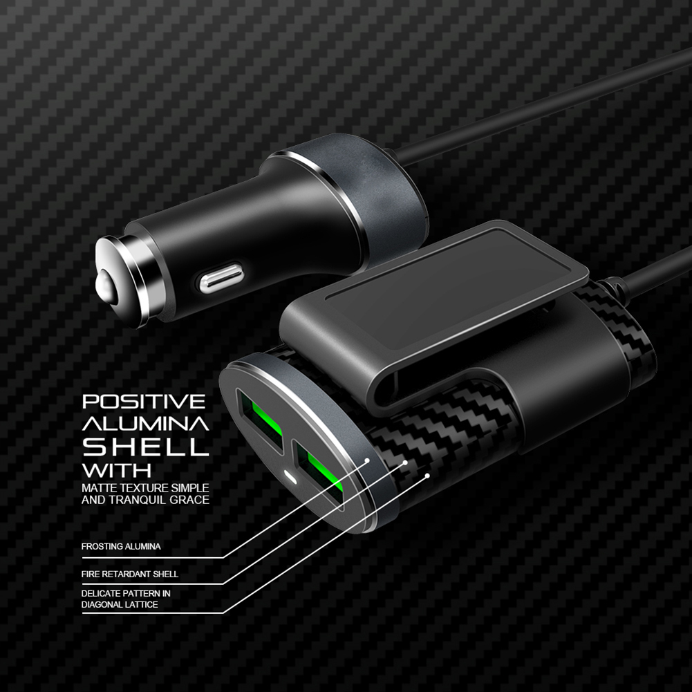 C501 5 1A 4 USB Ports Universal Mobile Phone Car Charger for iPhone Samsung in Cigarette Lighter from Automobiles Motorcycles