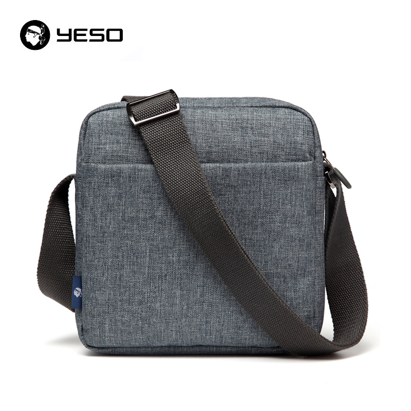 YESO Messenger Bag For Men Oxford Waterproof Casual Shoulder Bags 2018 New Fashion Multifunction Gray Crossbody Bags Men's Bag