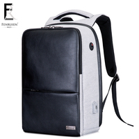 FENRUIEN Multifunction USB Charging Men 15 Laptop Backpack For Teenager Fashion Male leather Casual Travel backpack Waterproof