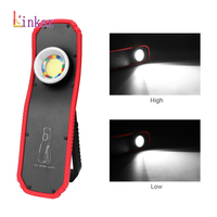 Portable COB LED Flashlight Torch USB Rechargeable LED Work Light Magnetic COB Lantern Hanging Outdoor Camping Hook Lamp Light