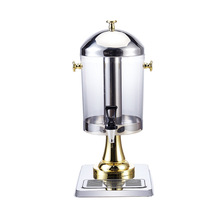 8L Stainless Steel Single Cylinder Drinking Juice Dispenser with Separate Water Tank