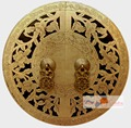 30cm Big Vintage Chinese Furniture Cabinet Face Plate Pull Handle Brass Hardware Copper knob