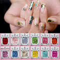 1 Sheet Adhesive Shell Sticker Nail Foil Soft Bendable Manicure Nail Art Sticker