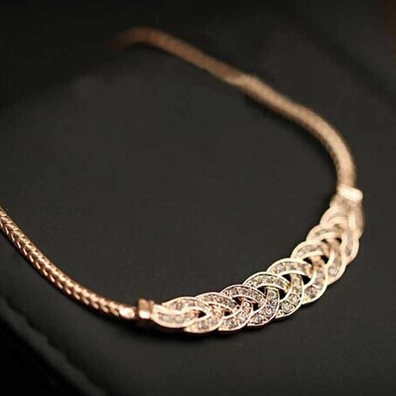 MINHIN High Quality Acrylic Romantic Choker Chain Necklace New Design Spiral Costume Jewelry Female Fashion Accessory