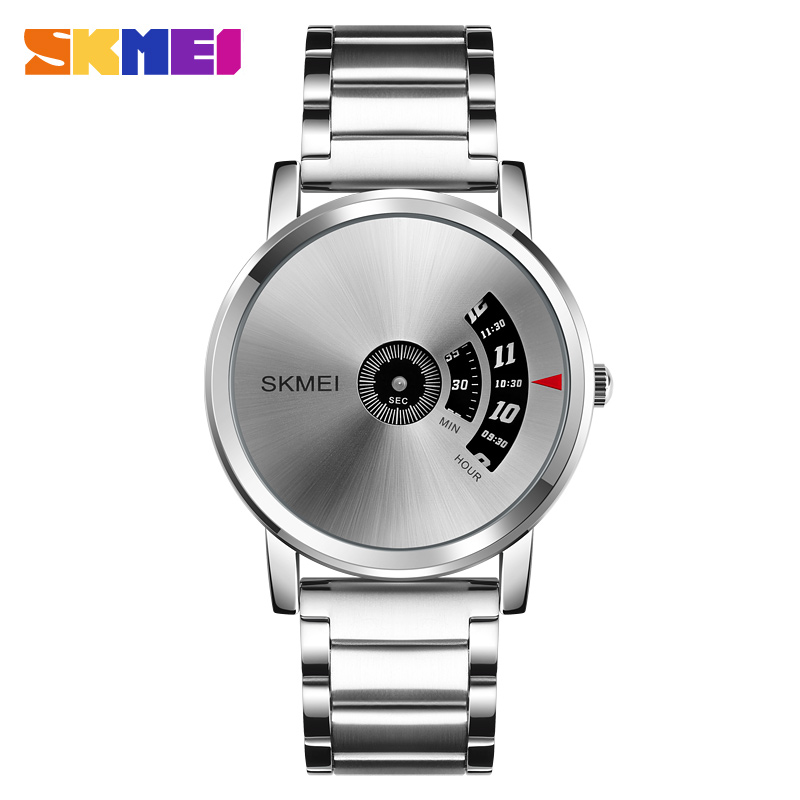 Fashion Creative Simple Men's Watches Luxury SKMEI Brand Stainless Steel Quartz Watch Men Casual Watch Relogio Masculino Relojes