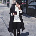 Autumn New Fashion Mens Slim Fit Long Coats Casual Outwear Cotton Trench For Men Black Size M -2xl Free Shipping