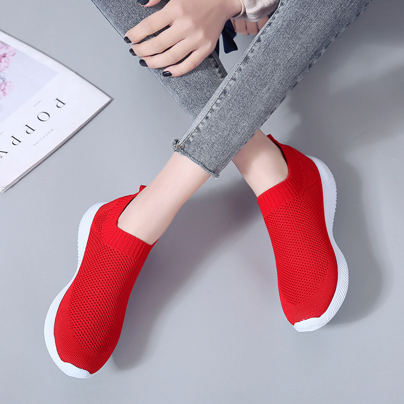 HTB1 oAPaoLrK1Rjy1zbq6AenFXa2 Rimocy plus size breathable air mesh sneakers women 2019 spring summer slip on platform knitting flats soft walking shoes woman