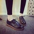 ПЛОСКИЕ Оксфорд обувь для женщин квартиры новая осень 2016 женская Мода обувь мокасины sapatos femininos sapatilhas zapatos mujer