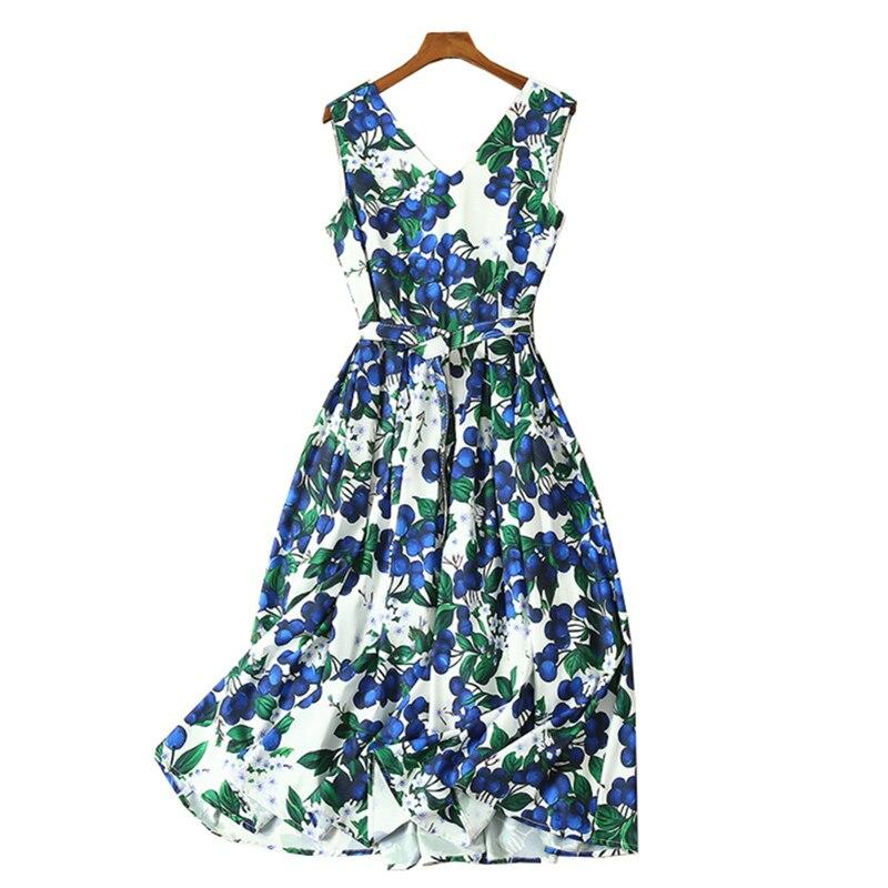 Kadın Giyim'ten Elbiseler'de Kadın yaz giysileri tropikal elbise fantezi tarzı toptan kadın giyim baskı kadın elbiseleri v boyun kolsuz midi elbise'da  Grup 1