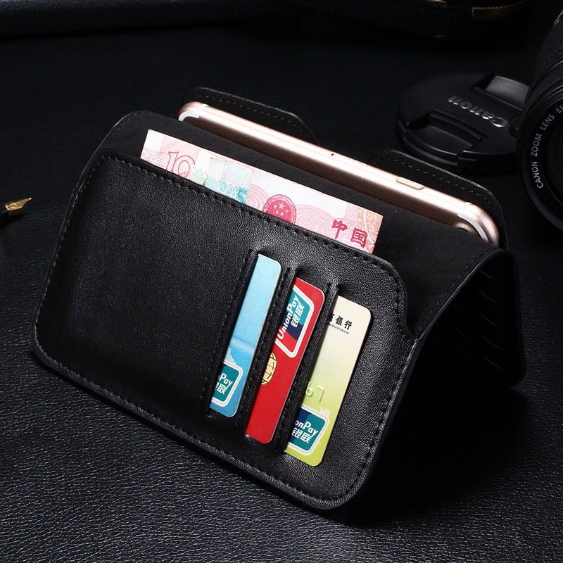4.7 Inch Universal Phone Case For iPhone / Samsung / Xiaomi / Redmi / LG / HTC Wallet PU Leather Phone Bag Cases Cover Card Slot