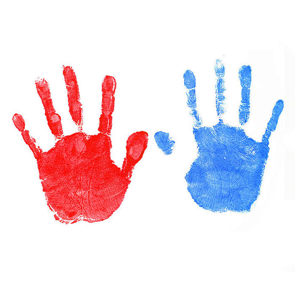ของที่ระลึก Baby Care ลายเซ็นมือหล่อชุดทารกแรกเกิด inkless หมึกปลอดสารพิษ baby handprint รอยเท้า pad เด็กทารกของเล่นของขวัญ