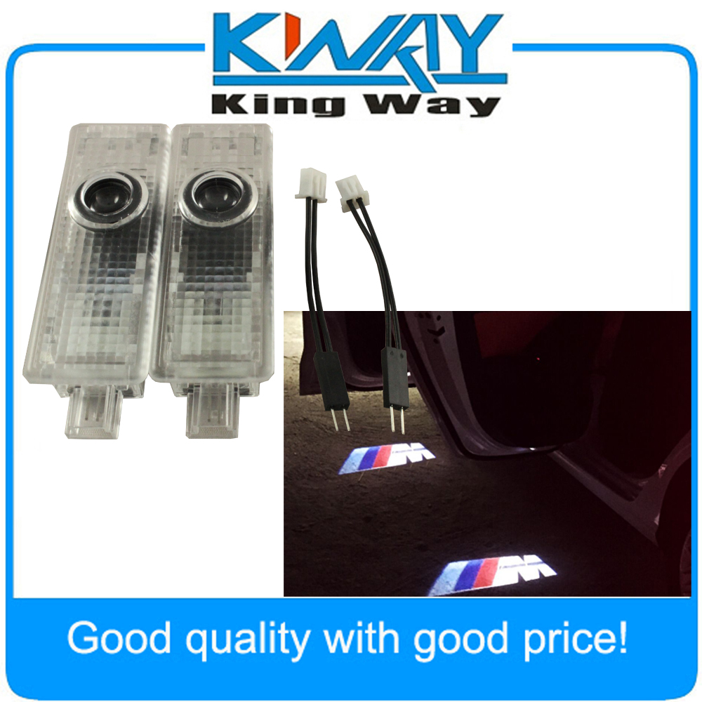 2x Car Door LED Logo welcome light Ghost Shadow Projector Laser Courtesy for BMW M E60 E90 M5 F10 Z4 E92 E65 E81 M3 X3 X5 X6 F30 2pcs 5th car led door light for for m 2 3 5 6 cx 5 cx 7 cx 9 rx8 logo projector ghost shadow welcome light