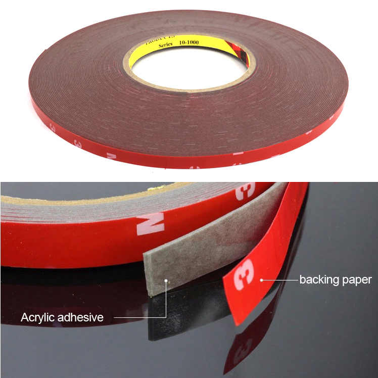 8mm Super Sticky Car Double-sided Clear Acrylic Foam Tape Adhesive Universal CC