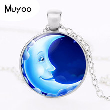 2017 new hot 2015 Fashion Brand Elf in the Moonlight Shadow Jewelry Vintage Moon Long Necklace Collares Mujer HZ1(China)