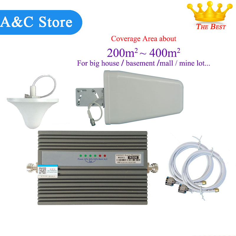 GSM900Mhz Mobile Phone Signal Booster 2g Signal Repeater Cell Phone Amplifier With High Quality Cable + Antenna For Big House