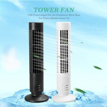 USB Tower-shaped Fan Air-Conditioner Silent Mute Tower Bladeless Desk