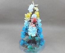 Купить с кэшбэком 2019 17x10cm Color DIY Visual Magical Crystal Paper Growing Tree Magic Christmas Grow Trees Kids Arbol Magico Science Baby Toys