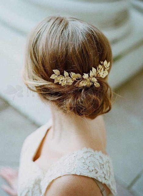 59324819c46a3 Handmade Gold Flower Leaf Tiara Wedding Hair Vine Accessories Jewelry Bridal  Headpiece Vintage Hair Accessories For