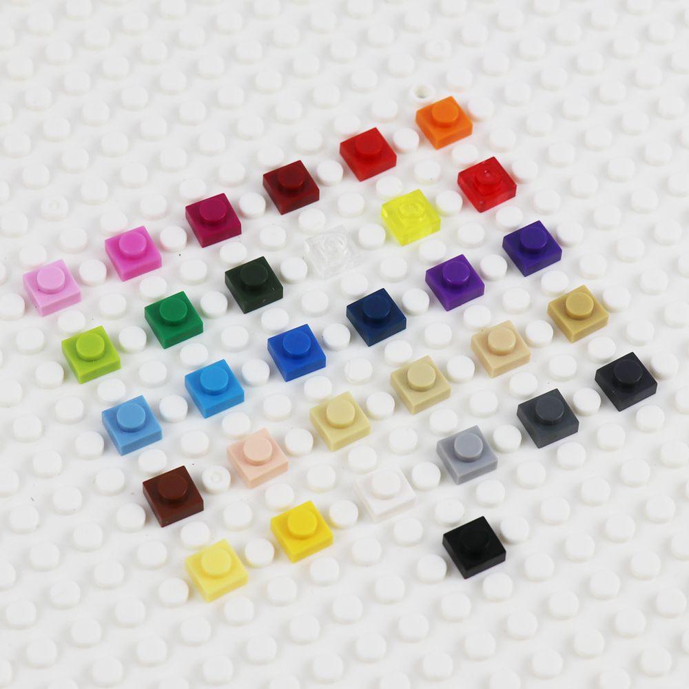 Пластина 1x1, Детский конструктор «сделай сам» с логотипом, детали аниме, игрушки для детей, развивающая детская игрушка, пластина 3024