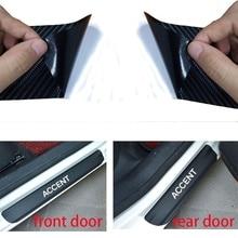 4pcs Carbon Fiber Vinyl Door Sticker Car Window Protector for Hyundai Accent Accessories