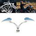 MOTORCYCLE TEARDROP CHROME CUSTOM REARVIEW MIRRORS FOR HARLEY CHOPPER CRUISER