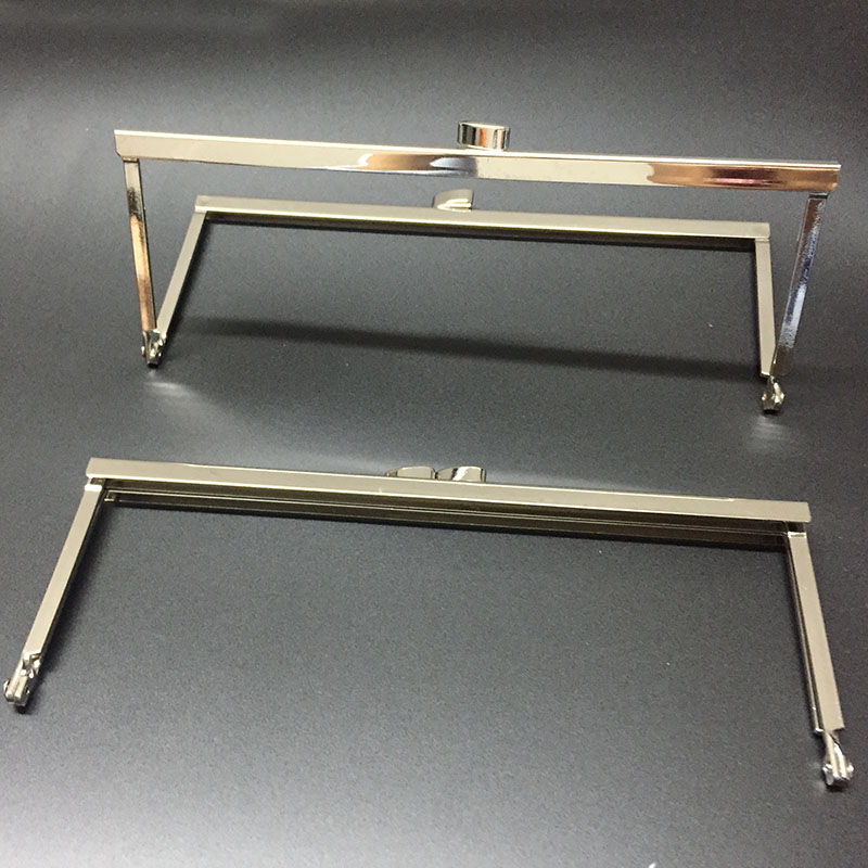 8 x 3 Inch Nickel Purse Frame With Open Top Channel FREE SHIPPING
