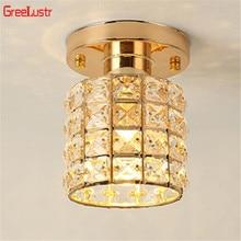 Современные золотые хрустальные светодиодные потолочные светильники для ресторана, столовой, Lustre Luminarias Para Sala, светодиодные лампы, лампа для коридора