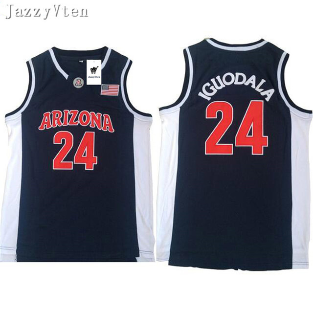 ... low price jazzyvten 2018 new arrived arizona state 24 andre iguodala  mens basketball jersey blue stitched 21ecf9a30