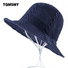 Lino maglia Cappelli di paglia per le donne protezione Della Spiaggia di  Estate di colore Solido Signore del cappello del sole T.. 8e699fa39aef