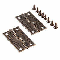 2 Pcs 35x23mm Antike Bronze Scharniere Schrank Tür Schublade Dekoration Vintage Scharnier Für Schmuck Holz Box Möbel hardware