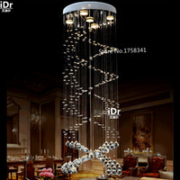 Classical spiral staircase lamp K9 crystal chandelier lamp living room lamp Luxury lamp Upscale atmosphere