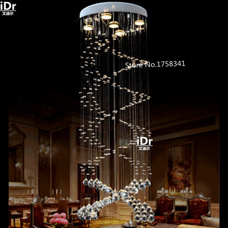 Klassische Wendeltreppe Lampe K9 Kristall Kronleuchter Wohnzimmer Luxus Gehobene AtmosphreChina