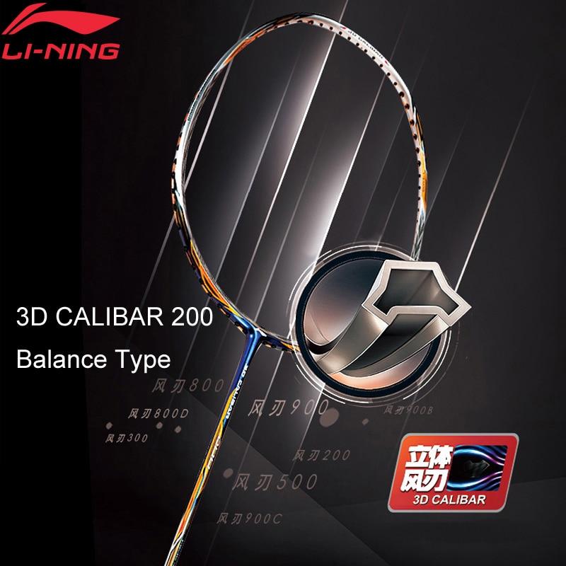 Li-Ning 3D CALIBAR 200 Badminton Racket Ball Control Type LiNing Sports Single Racket No String AYPM394 EAMJ18