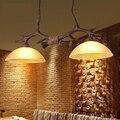 Moder Antler Pendant lights Resin Glass Shade Pendant Lamps For Restaurant Dining Room Lustres de teto Indoor Pendante colgantes