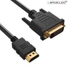 HDMI to DVI Cable Dual Link DVI D 24+1 to HDMI Adapter Cable High Speed Bi-Directional for LCD HDTV Xbox PS3 Computer Projector