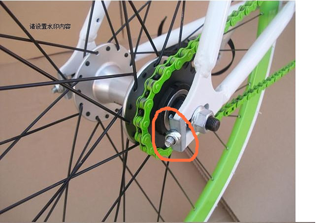 1 One Single Speed Fixed Gear Fixie BMX Rear Bike Bicycle Chain Tensioner