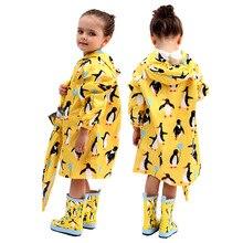 עמיד למים Windproof מעילי גשם לילדים תינוק בני בנות פונצ ו עבור 2 8 שנים