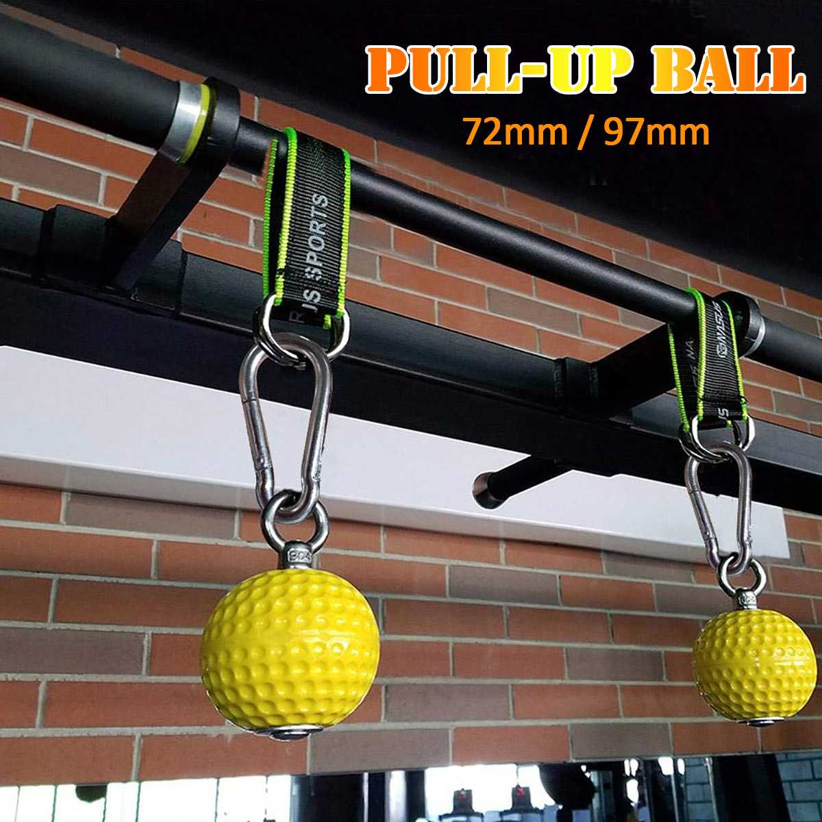 72/97mm Training Arm And Back Muscles Pull-ups Strengthen Ball Wrist Climbing Finger Training Gym Hand Grip Strength Ball Exerci
