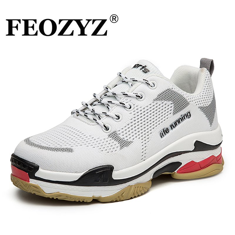 FEOZYZ New Low Top Life Running Shoes For Women Knit Upper Breathable Sport Shoes Woman Sneakers Spor Ayakkabi Bayan new running shoes for women sport shoes woman cheap spor ayakkabi sneakers sapatilha feminina chaussure femme mesh breathable