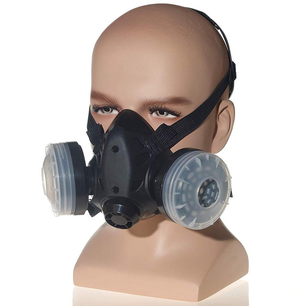 HTB1 oCfXF67gK0jSZPfq6yhhFXaN In stock! Half Face Gas Mask With Anti-fog Glasses N95 Chemical Dust Mask Filter Breathing Respirator For Painting Spray Welding