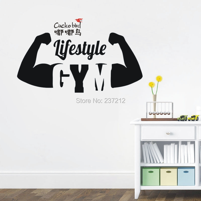 Online Get Cheap Gymnasium Stickers Aliexpresscom Alibaba Group - Sporting wall decals